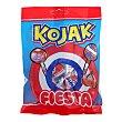 Caramelo con palo Kojak sabor cereza 7 ud Fiesta