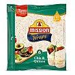Wraps con chía y quinoa sin aceite de palma 6 unidades Paquete 370 g Mission