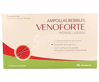 VENOFORTE Complemento alimenticio que ayuda a la circulación de las piernas y a aliviar la sensación de pesadez 10 unidades