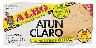 Albo Atun claro aceite oliva (abre fácil) Pack de 2x 164 gr