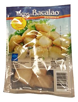Ubago Bacalao congelado punto de sal tacos Paquete 250 g