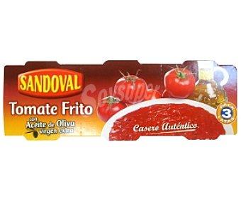 Sandoval Tomate frito Pack 3 unidades de 220 gramos