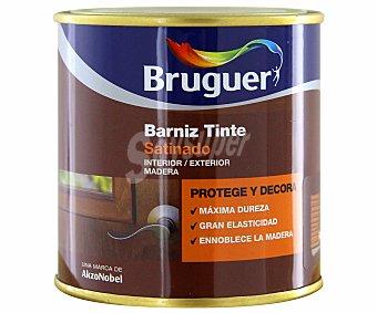 BRUGUER Barniz para muebles con tinte de color roble y acabado satinado 0,25 litros