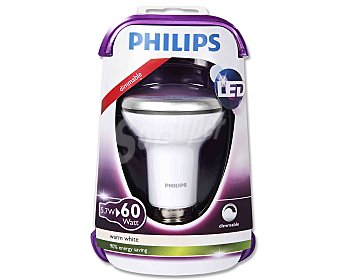 Philips Foco led reflector 5.7 Watios, con casquillo E27 (grueso) y luz cálida 1 unidad