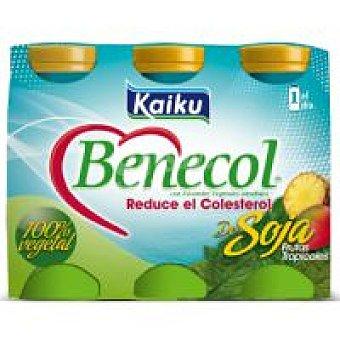 Kaiku Benecol para beber de soja Pack 6x70 ml