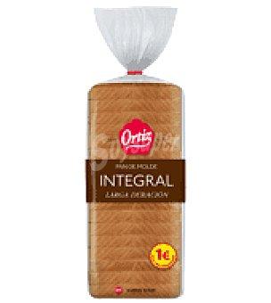 Ortiz Pan de Molde larga vida integral 20 rebanadas 450 g