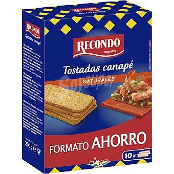 Recondo Tostadas para canapé cuadradas formato ahorro Estuche 200 g