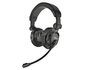TRUST COMO Auricular para pc,, con micrófono, conexión Jack 3,5mm