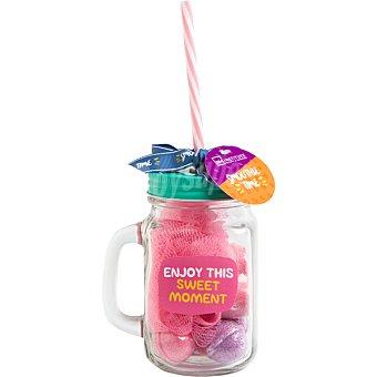 IDC Smoothie Jar con 4 bolas efervescentes de baño + 1 corazón efervescente de baño + esponja diferentes colores