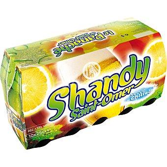 LE PANACHÉ DE SAINT-OMER SHANDY cerveza sin alcohol sabor limón  pack de 10 botellas 25 cl