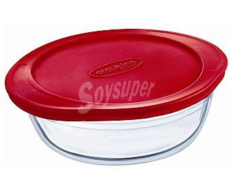 Ocuisine Recipiente redondo con tapa apto para horno y microondas, 0,35 litros de capacidad 1 unidad