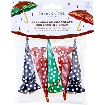 SIMON COLL sombrillas de chocolate envase 50 g 5 unidades