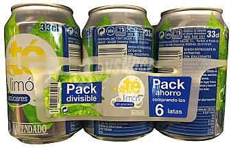 HACENDADO Refresco té limón sin azúcar 6 unidades de 330 ml (1980 cc)