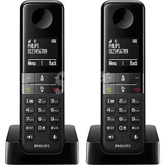 Philips Teléfono inalámbrico Dect Dúo en color negro D4502B/23  1 Unidad