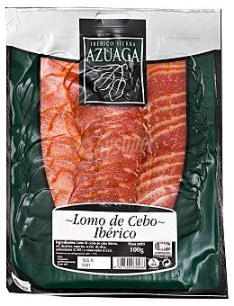 Azuaga Lomo ibérico de cebo en lonchas Sobre 100 g