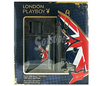 Playboy Fragrances Estuche Colonia Hombre London: Colonia 100ml+ Gel de Ducha 250ml 1u