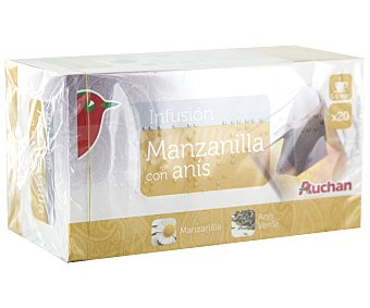 Auchan Manzanilla con anís 20 unidades