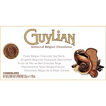 GUYLIAN Celebraciones Bombones artesanales belgas estuche 33 g 3 unidades