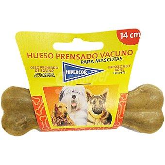 Hipercor Hueso vacuno prensado 14 cm para perro Paquete 1 unidad