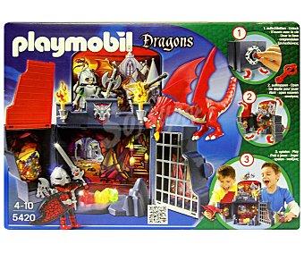 PLAYMOBIL Playset Guarida del dragón en cofre, incluye 2 figuras, dragón y accesorios, modelo 5420, Dragons 1 unidad