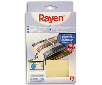 Rayen Funda para mantas con antipolillas, color crudo, 65x55x20 centímetros 1 Unidad
