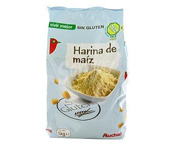 Auchan Harina de maíz sin gluten 1 kilogramo