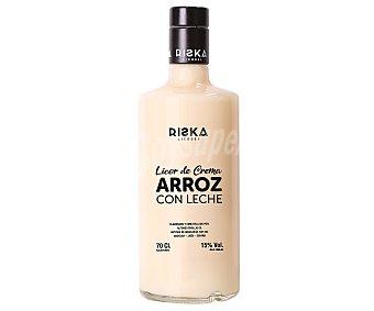 Riska Licor de crema de arroz con leche, elaborado en Españan Botella de 70 cl