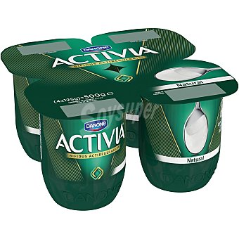 Activia Danone Activia natural 4 unidades de 125 g