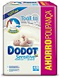 Toallitas Sensitive infantiles sin perfume Pack 4 envases 54 unidades Dodot Sensitive