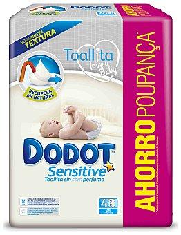 Dodot Sensitive Toallitas infantiles sin perfume 216 uds