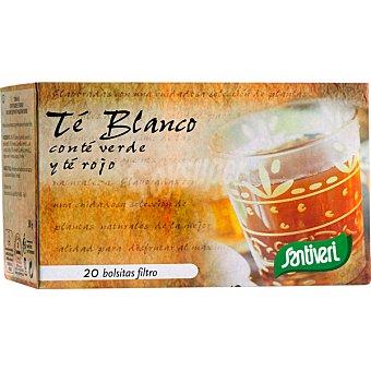 SANTIVERI SANAFLOR Infusión de té blanco con té verde y té rojo Envase 20 unidades