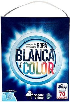 BOSQUE VERDE DETERGENTE LAVADORA POLVO ROPA BLANCA Y COLOR PAQUETE 5250 g - 70 lavados