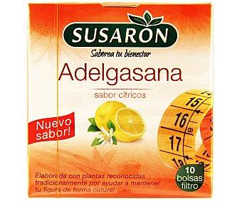 Susaron Infusión adelgasana sabor cítricos (elaborada con plantas reconocidas tradicionalmente por ayudar a mantener tu figura de forma natural) 10 bolsas filtro