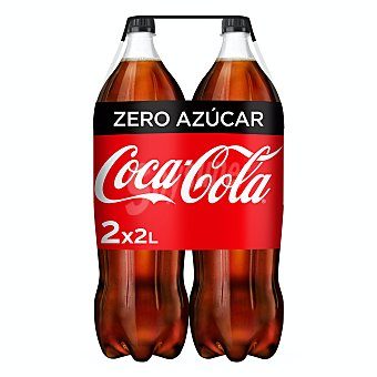 Coca-Cola Zero Refresco de cola Zero sin azúcar Pack 2 botellas