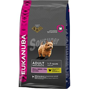 EUKANUBA ADULT SMALL BREED Alimento completo para perro adulto de razas pequeñas con pollo bolsa 3 kg Bolsa 3 kg