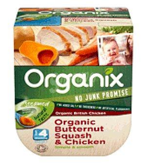 Organix Tarrito pure calabacín pollo ecológico 240 g