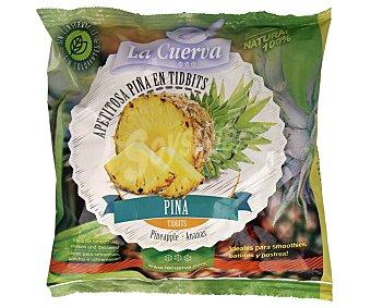 La Cuerva Piña cortada en tidbits, 100% natural y sin conservantes ni colorantes 300 g