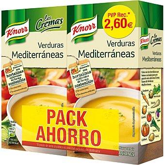 Knorr Crema de verduras Mediterráneas Las Cremas pack 2 envase 500 ml
