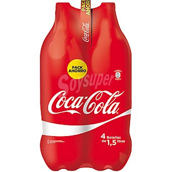 Coca-Cola Refresco cola Pack 4 botella 1.5 lt