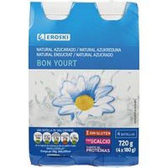 Eroski Yogur líquido natural Bonyourt 4X180g