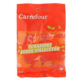 Carrefour Corazones de gominola de melocotón 200 g