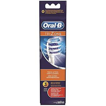 Trizone recambio cepillo dental set de 3 unidades