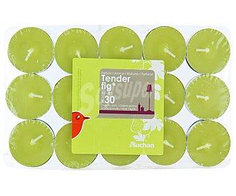 AUCHAN Velas calientaplatos o tealights perfumadas con olor a higo dulce Pack de 30 Unidades
