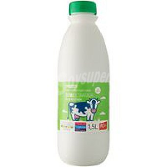 Eroski Leche Semidesnatada Botella 1,5 litros