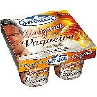 Central Lechera Asturiana Yogur vaqueiro con miel Tarrina 125 g