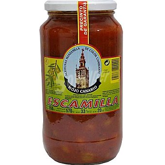 Escamilla Aceitunas manzanilla morada aliñadas con mojo canario Frasco 570 g neto escurrido