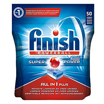 Finish Lavavajillas máquina todo en 1 50 pastillas