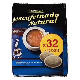 Hacendado Cafe capsula (compatible con cafetera sistema senseo) expresso descafeinado Paquete 32 u