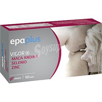 Epaplus Vigor+ unisex con Maca Andina Selenio y Zinc para incrementar el deseo sexual tarro 60 capsulas Tarro 60 capsulas