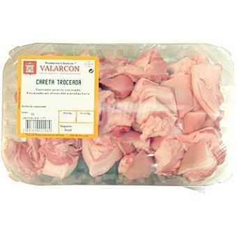 VALARCON Careta troceada de cerdo peso aproximado bandeja 500 g